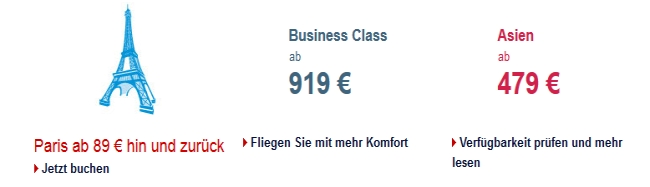 Air France Angebote