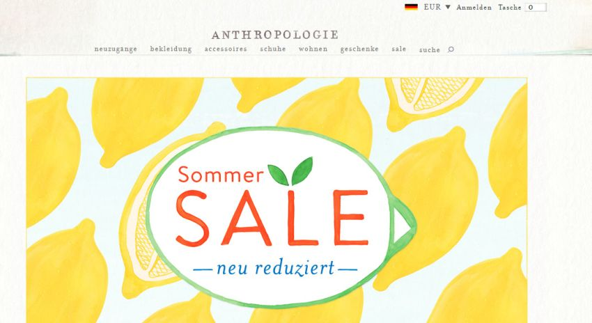 Anthropologie Gutschein