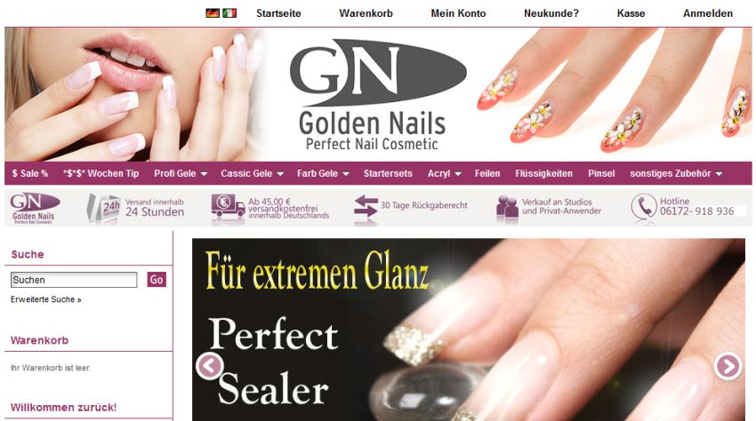 Golden Nails Gutschein