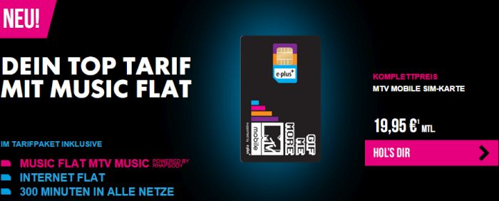 MTV Mobile Angebot