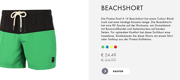 Protest Boardwear Angebot